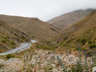 Route et montagnes de Cardrona