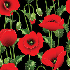 Seamless from poppies.
