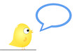 Bird with speech bubble