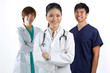 A team of a happy Asian Doctors