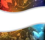 Imagination sparkling floral background poster