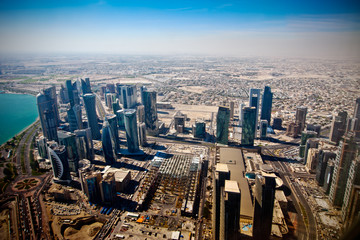 airview on modern Doha