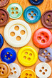 Collection of colorful sewing button