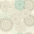 vector pastel seamless lacy pattern