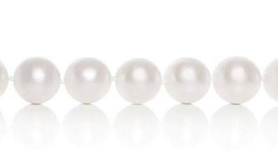 Pearl close-up on a white background