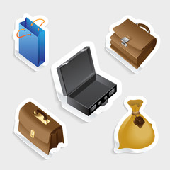 Sticker icon set for bags
