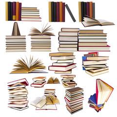 colección y set de libros