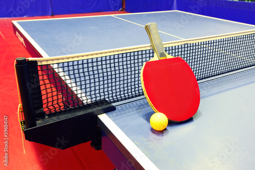 Equipment for table tennis - racket, ball, table