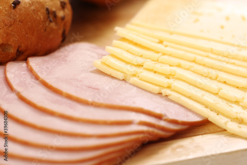 Cheese and ham