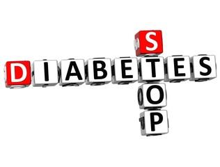 3D Diabetes Stop Crossword text