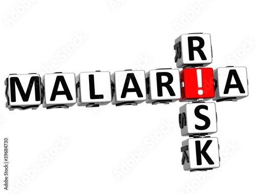 3D Malaria Risk Crossword text