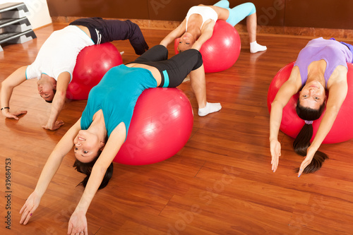 fitness group stretching