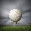 closeup of golf ball on golf tee