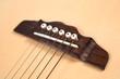Guitar bridge and strings