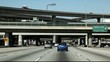 Freeways in downtown Los Angeles video was taking from the  car