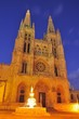 Night view of the Cathedral of Burgos.