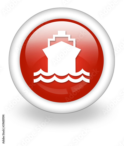 "Light Red Icon ""Ship / Water Transportation"""