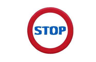 segnale di stop animato