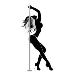 pole dancer vectorial silhouette