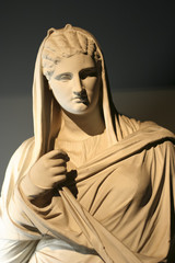 Marble statue of roman woman
