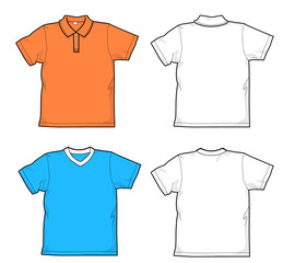 T-shirt and polo-shirt