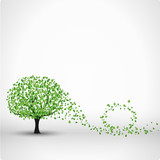 Fototapety tree vector background