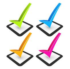 illustration of check mark and check box