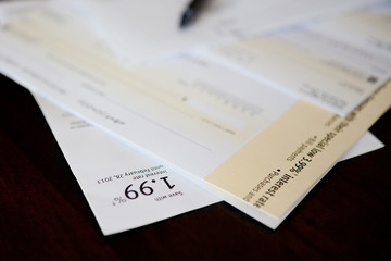 Credit card cheque