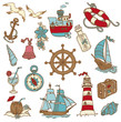 Doodle Sea elements - for your design, scrapbook in vector