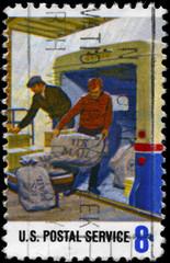USA - CIRCA 1973 Loading Mail
