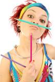 Dynamic girl 006 poster