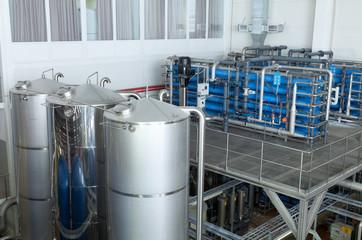 Интерьер цеха на пивоваренном заводе