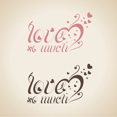Holidays Text Vector - Love So Much