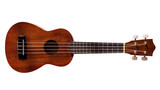 Hawaiian ukulele guitar with four strings isolated on white poster