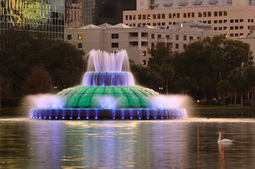 Fountain in Orlando's Eola Lake