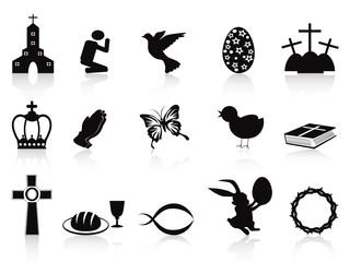 black easter icons set