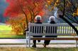 Leinwanddruck Bild - Herbsttag im Park