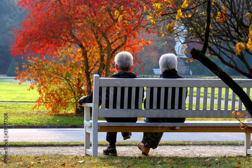 Leinwanddruck Bild Herbsttag im Park