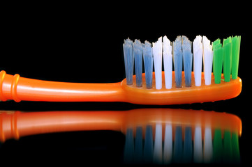 Toothbrush on Black Background