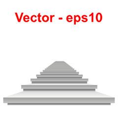 Vector conceptual 3D white stair