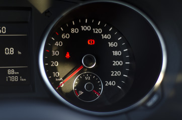 Blurred image of car instrument panel