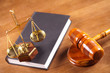 law book,balance and gavel