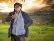 arabian lebanese man / farmer with thumbs up