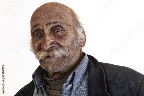 old arabian lebanese man with big mustache