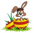 Easter Bunny Broken Egg