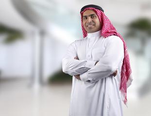 traditional arabian business man in office