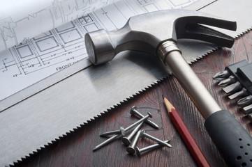 diy tools horizontal still life