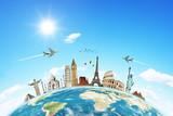 Podróż koncepcja pomników na świecie 2