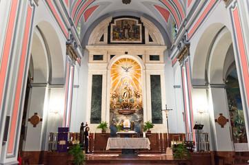Altar del la Iglesia del Socorro en Ronda, Andalucía