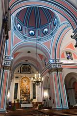 Altar y boveda de la iglesia del Socorro en Ronda